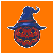 Halloween Horor Pumpkin Vampir...