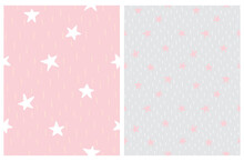 Cute Abstract Starry Sky Vecto...