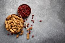 Natural Organic Peanuts On The...