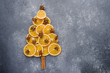Christmas Tree Made Of Dried O...