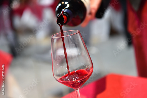 Fotografering Italy Tuscany red wine tasting called Supertuscan