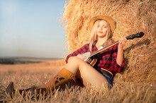 A Country Girl With A Banjo Si...