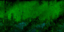 Vintage Bright Green Background With Grunge Texture Cracks, Stained Of The Paint Layer,  Christmas Or St Patrick's Day Paper