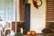 Black Board Porch Sign. Autumn Mood Holiday Halloween Thanksgiving
