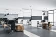 Leinwandbild Motiv Luxury office interior with rows of computer tables