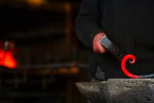 A Close-up Image Of A Blacksmi...
