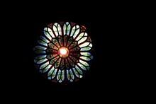 Chandelier With Dark Ceiling.