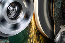 High-precision Machining Of A Part On A Cylindrical Grinding Machine With An Abrasive Stone At High Speeds.