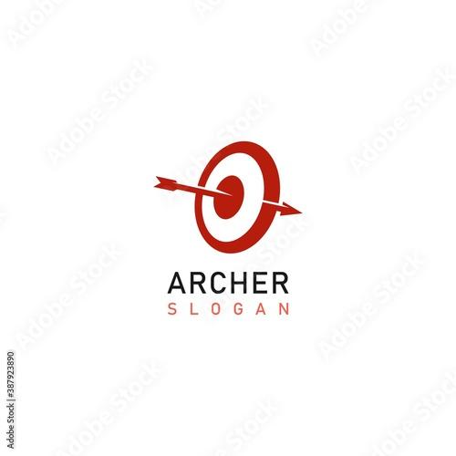 Canvas Archery practice target board Logo Icon Design Vector