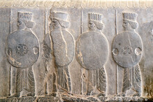 Bas-relief With Assyrian Warriors, Persepolis, Iran