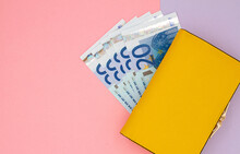 Close-up Of Yellow Wallet With...