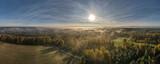 Fototapeta  - mgła poranna nad lasami i łąkami Górnego Śląska, Polska