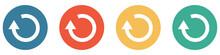 Bunter Banner Mit 4 Buttons: Update Pfeil