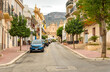 Terrasini, Sicily, Italy - September 25, 2020: Narrow streets in the center of Terrasini, province of Palermo.