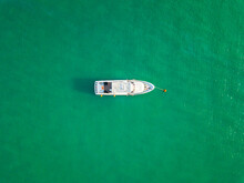 Aerial View Of Yacht, Marina B...