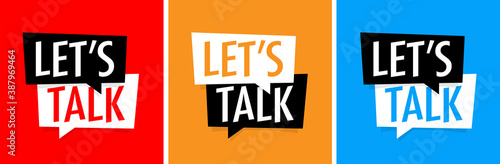 Tableau sur Toile Let's talk