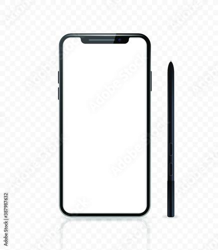 Fotomural Realistic Smartphone , Black Color