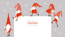 Christmas Greeting Banner With...