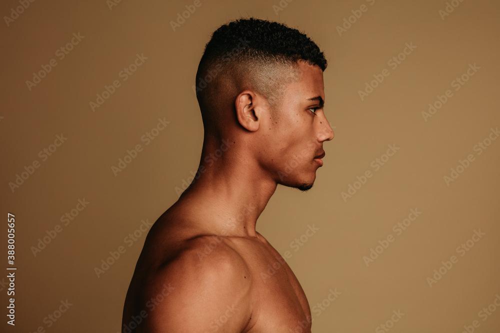 Fototapeta Close up of african american man