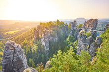 Elbsandstein Mountains In Saxo...