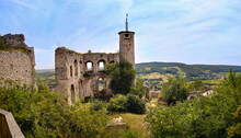 The Inner Part Of The Ruins Of The Medieval Castle Falkenstein In Lower Austria