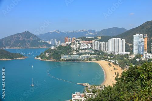 Beautiful Scenery of Repulse Bay and Aberdeen in Hong Kong Fototapet
