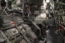 Sous-marin Salle Des Machines Moteur