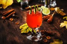 Hot Rum Punch, Grog, Autumn Or...