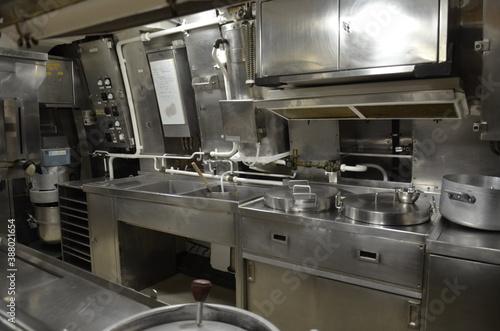 sous-marins cuisine équipage Fotobehang