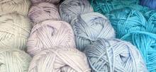 Colorful Wool Yarn On The Shel...