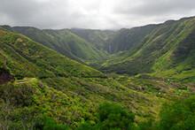 Moaula Falls At Halawa Valley Molokai Landscape