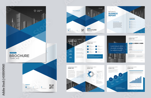 Obraz na plátně template layout design with cover page for company profile, annual report, brochures, flyers, presentations, leaflet, magazine, book