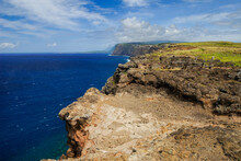 North Coast Sea Cliffs Of Molokai West Of Kalaupapa