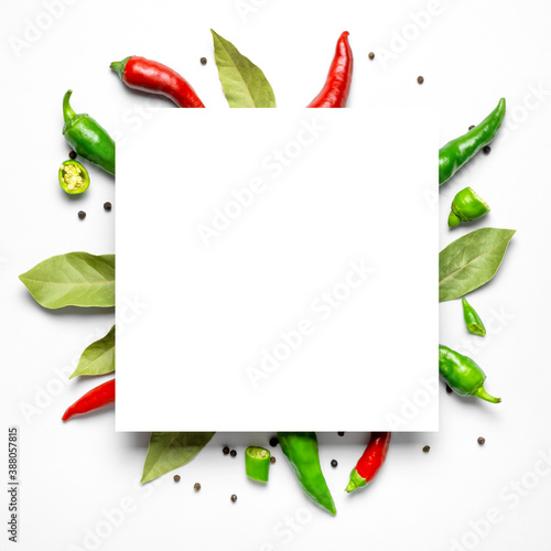 Creative food layout Fototapeta
