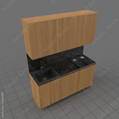 Obraz Kitchen cooking surface and sink - fototapety do salonu