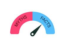 Facts Vs Myths Concept. Clipat Image.