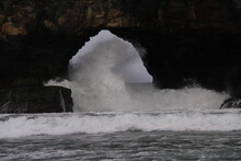 Surf Crashing Through The Hole...