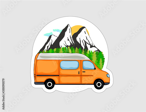 Van Life sticker Fototapeta
