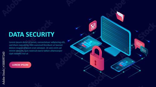 Fotografie, Obraz Data internet security concept