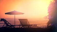 Tropical Resort Beach Against ...