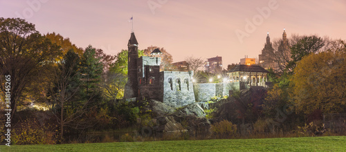 USA, New York, New York City, Belvedere Castle in Central Park at sunset