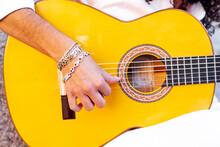 Guitarist Hand Playing Guitar ...