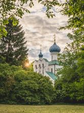 Germany, Hamburg, Russian Orthodox Germany, Hmaburg, Russian Orthodox Church Of St. Procopiusat Sunset