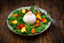 Plate Of Fresh Vegetarian Sala...
