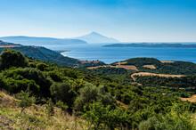 Greece, Overlook Of Bay Of Mou...