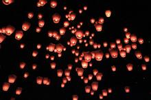 Sky Lantern Festival In Pingxi, Taiwan