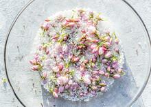 Preserving Cherry Blossoms In Sea Salt