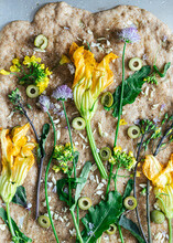 Baked Flatbread With Zucchini ...