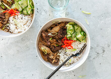 Japanese Beef Rice Bowl With R...