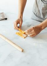 Hand Folding Pasta Dough For R...